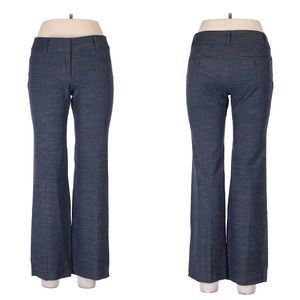 Ann Taylor Loft Marisa Blue Wide Leg Trouser 6 P